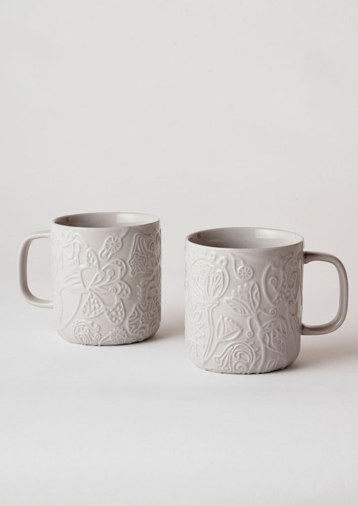 Angus & Celeste Imaginary Botanical Mug Set - Grey