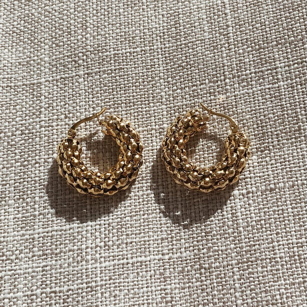 Kitsense Florence Pebble Hoops