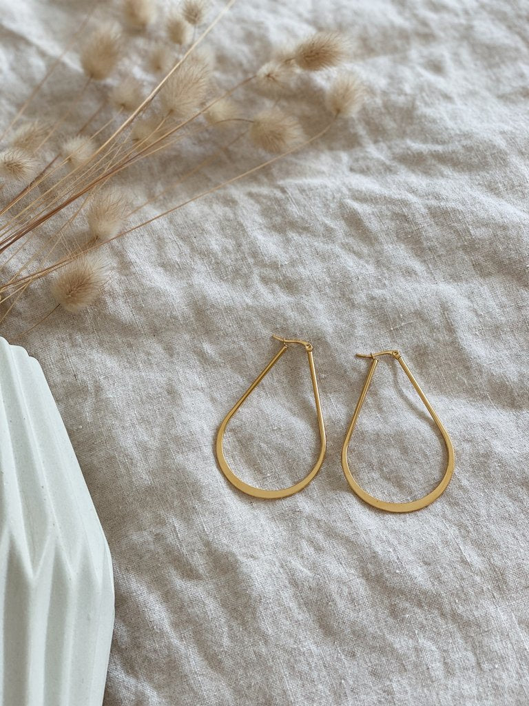 Kitsense Ashley Flat Hoops
