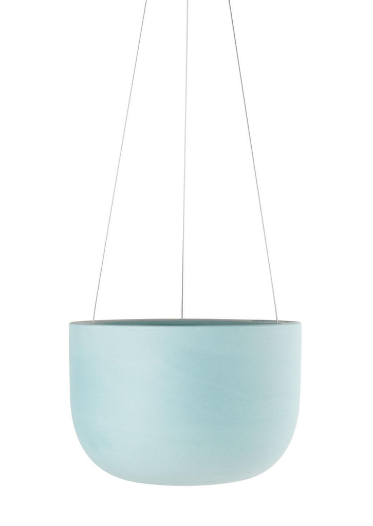 Angus & Celeste Raw Earth Hanging Planter - Shale Green