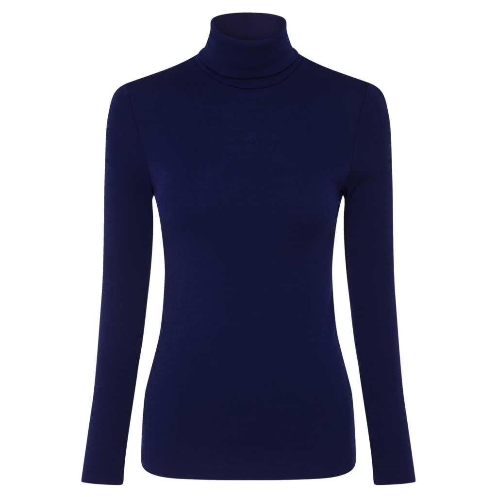 Woolerina Long Sleeve Turtleneck - Midnight