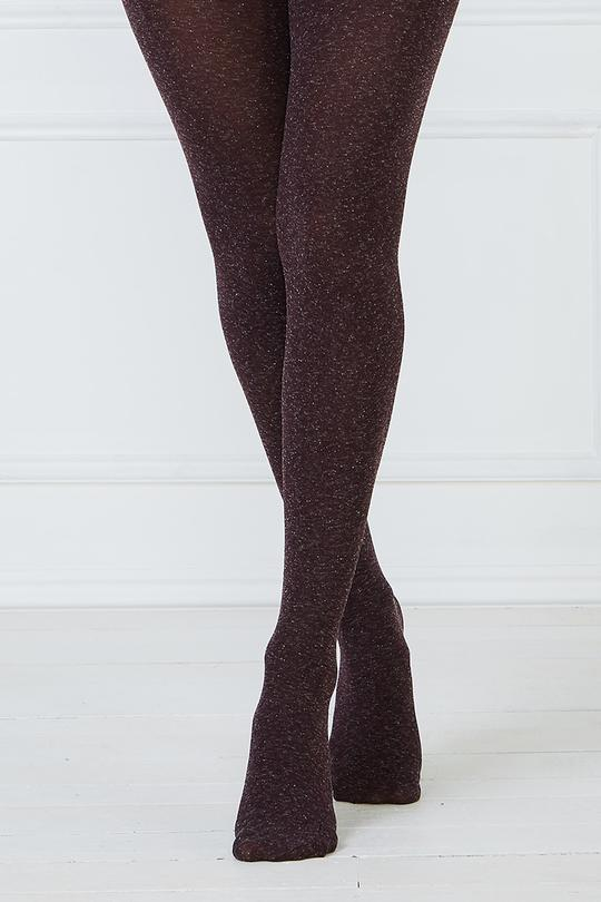 Mesop Heather Tights - Eggplant