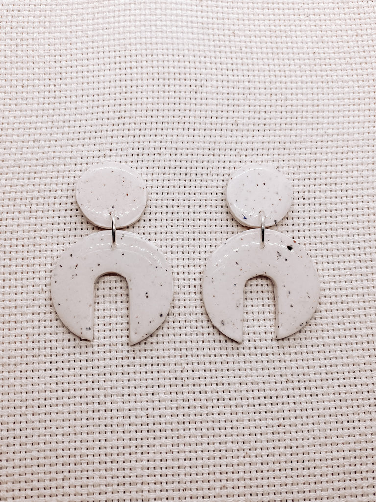 Kerry Mona Studio Queenie Wattleseed Studs - White