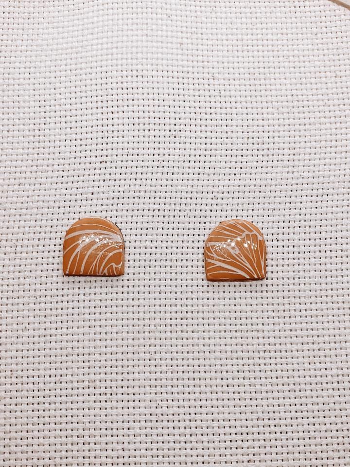 Kerry Mona Studio Nahla Studs - Yellow Ochre