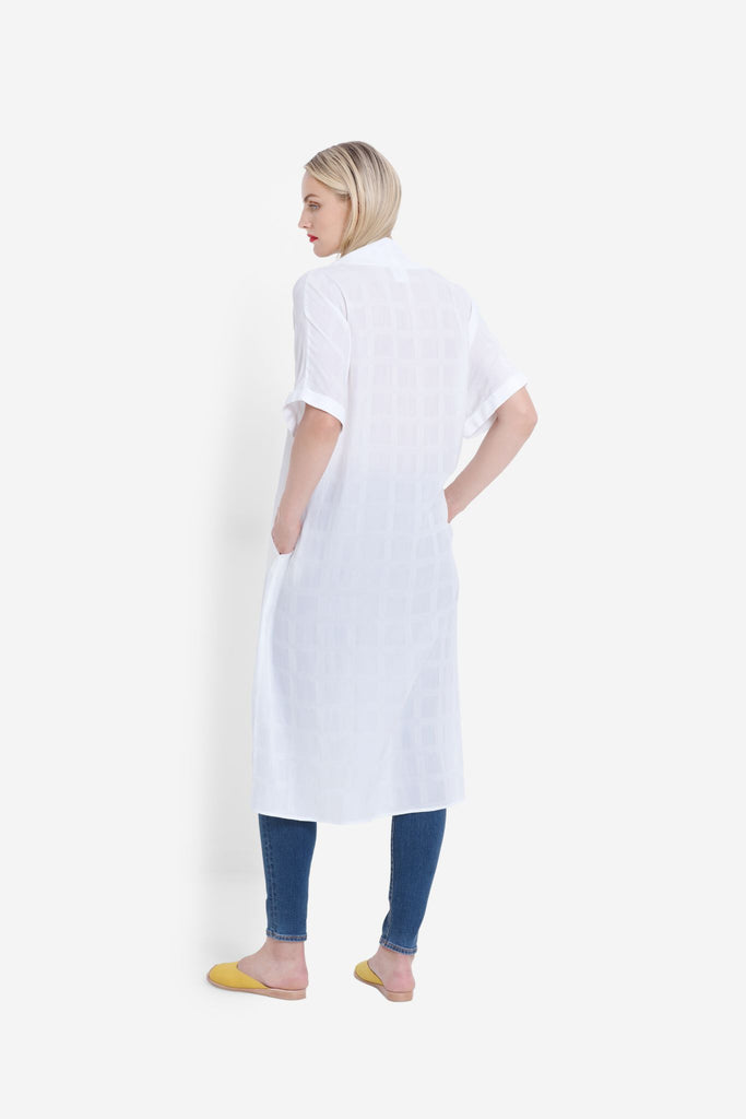 Elk Flekke Dress - White