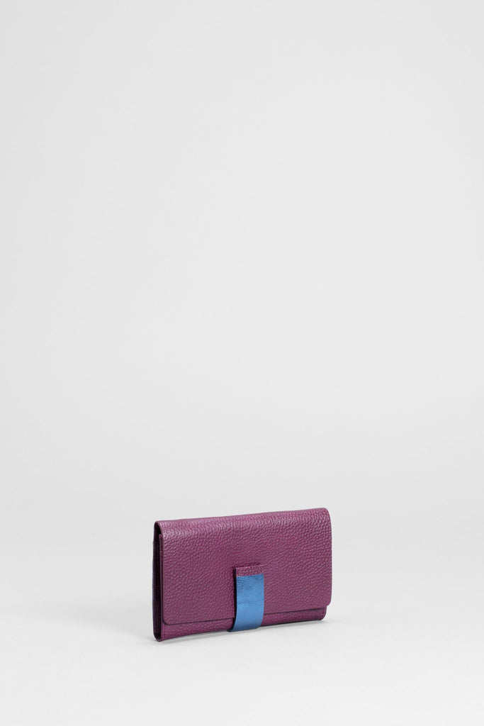 Elk Gauto Wallet Merlot and Blue Metalic