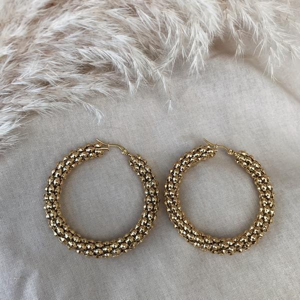 Kitsense Florence Pebble Hoops XL