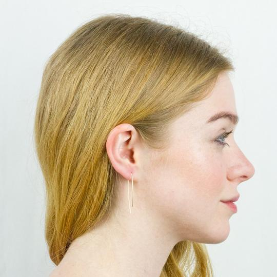 Baleen Uneven U Earrings