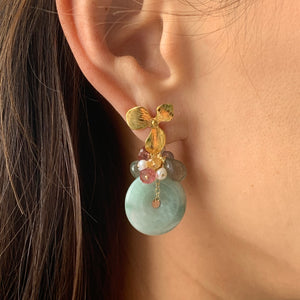 Dreams- Type A Jade and Gemstones Earrings