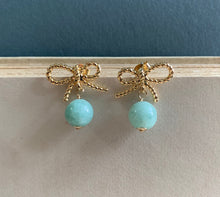 Load image into Gallery viewer, Ribbons & Jade Earrings