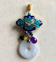Load image into Gallery viewer, Clouds Cloisonne Sultry Gemstones Pendant