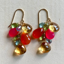 Load image into Gallery viewer, Colorful Gems- Citrine, Carnelian, Hot Pink
