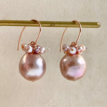 Load image into Gallery viewer, Pink Pearls on 14k Rose Gold Filled