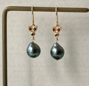 Tahitian Pearls & Deep Red Bee 14kGF