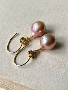 Peach Edison & Bees 14kGF Earrings