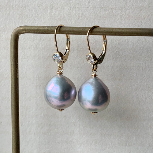 Silver Baroque Pearls on 14kGF