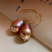 Load image into Gallery viewer, Rainbow Peach- Gold Lustre Edison Pearls on 14k Gold Filled