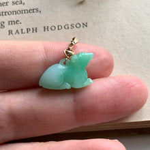 Load image into Gallery viewer, Jade Pendants: Green-Yellow Jade Piggie, Apple Green Mouse