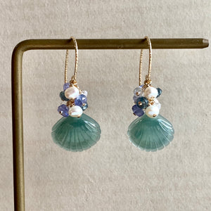 Type A Blue-Green Shells Jade & Gems 14kGF