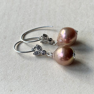 Baby Copper-Pink Edison Pearls 925 Silver