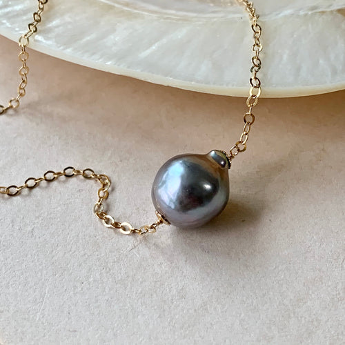 Silver Pearl 14kGF Necklace