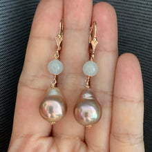 Load image into Gallery viewer, Icy Jade & Pink-Gold Edison Pearls 14kRGF