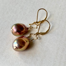 Load image into Gallery viewer, Stars AAA Rainbow Edison Pearls 14kGF