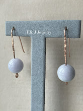 Load image into Gallery viewer, Type A Lavender Jade Balls on 14kRGF Handforged Earring Hooks