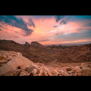 Sunset at Jebel Hafit
