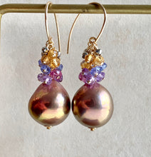 Load image into Gallery viewer, Gold Metallic Pearls & Gemstone Rondelles on 14k Gold Filled