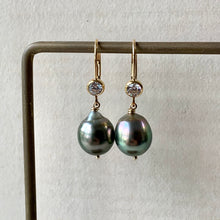 Load image into Gallery viewer, AAA Large Tahitian Peacock Pearls 14kGF