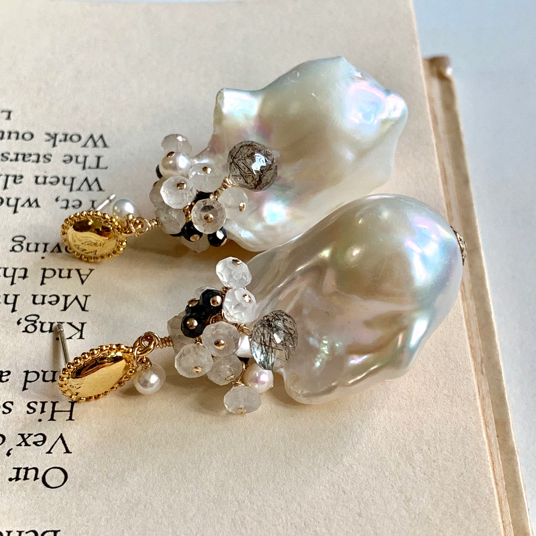 Classical- Black & White AAA White Baroque Pearls