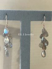 Load image into Gallery viewer, Summer 2: Labradorite 14kRGF Earrings