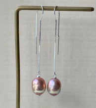 Load image into Gallery viewer, Rainbow Purple AAA Edison Pearls 925 Silver Threaders