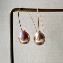 Load image into Gallery viewer, Rainbow Edison Pearls on Hand Forged Hooks 14kRGF
