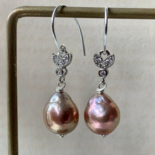 Load image into Gallery viewer, Baby Copper-Pink Edison Pearls 925 Silver