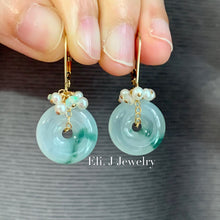 Load image into Gallery viewer, Eli. J Signature: Floral Jade Donuts, Pearls & Opal 14kGF