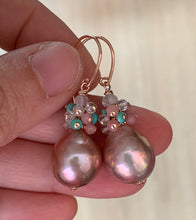 Load image into Gallery viewer, Pink Lavender Pearls Turquoise & Gemstones 14k RGF