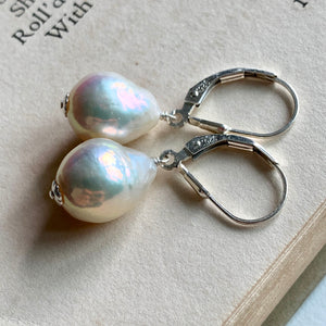 White Edison Pearls on 925 Silver