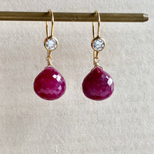Load image into Gallery viewer, AAA Ruby 14kGF Earrings