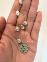 Load image into Gallery viewer, Eli. J Exclusive: 喜喜 Mint Green Jade, Keshi Pearls 14kGF Necklace