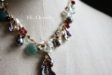 "Load image into Gallery viewer, One-of-a-Kind: ""Deep Sea Treasures"": Jade Shells, Tahitian Pearls, Keishi Pearls, Gemstone Necklace"