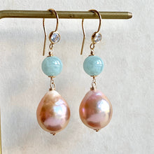Load image into Gallery viewer, Type A Apple Green Jade & Peach Edison Pearls