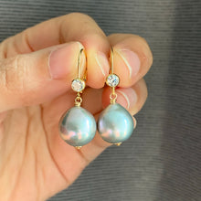 Load image into Gallery viewer, Silver Baroque Pearls on 14kGF