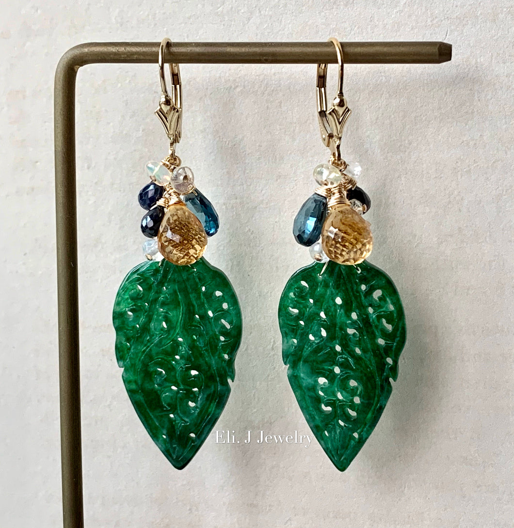 One-of-A-Kind: Type A Old Mine Jadeite & Gems 14kGF
