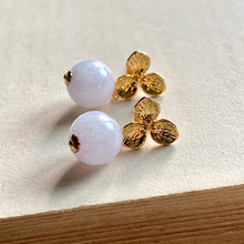 Load image into Gallery viewer, Lavender Jade on Gold Flowers