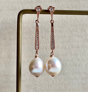 Freshwater Cream Pearls on Vintage-Inspired RGP Studs