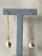 Load image into Gallery viewer, Peach Baby Edison Pearls, 14kGF Threaders