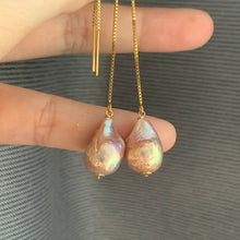 Load image into Gallery viewer, Unicorn Baby Edison Pearls 14kGF Threaders