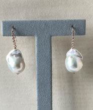 Load image into Gallery viewer, White Baby Baroque Pearls 14kRGF Earrings